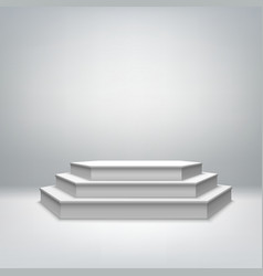 Blank white stage podium vector image vector image