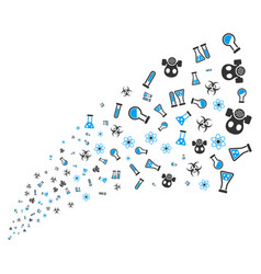 chemistry symbols source stream vector image vector image