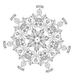 contoured asian style flowers vector image