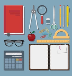 Education items set vector image