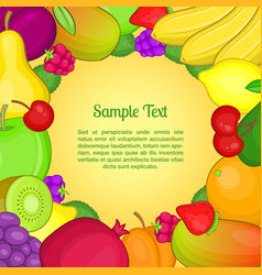 fruits concept cartoon style vector image vector image