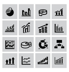 graph icons vector image
