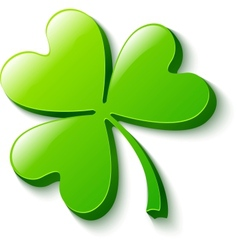 Isolated green clover on white vector