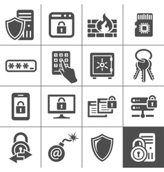 IT Security icons Simplus series vector image