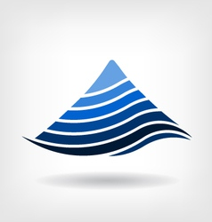 Mountain in layers logo vector image