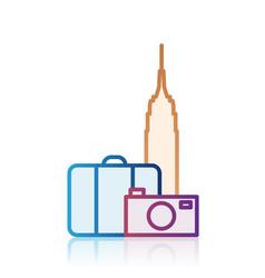 New york tourism destination icon vector