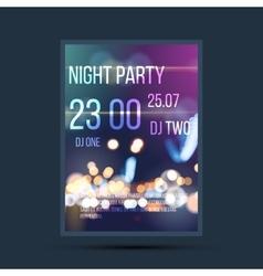 Night invitation flyer template vector