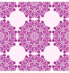 Ornament beautiful seamless pattern with mandala vector