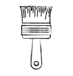 paint brush icon monochrome blurred silhouette vector image vector image