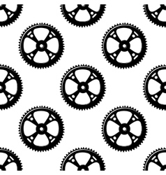 Pinions and gears seamless pattern vector image