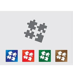 Puzzle icon vector image vector image