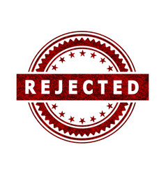Rejected stamp icon sign vector