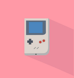 retro game player with pastel background vector image vector image