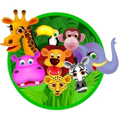 safari animal vector image vector image
