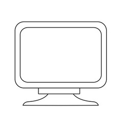 screen monitor device technology digital vector image vector image