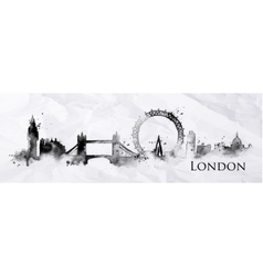 Silhouette ink London vector image
