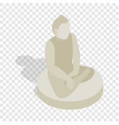 Statue of buddha isometric icon vector