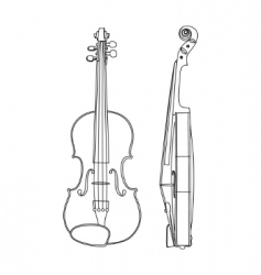 Vector illustration of violin vector