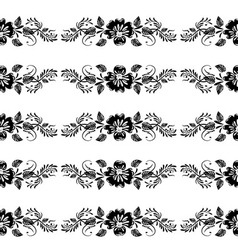 Vintage floral border vector
