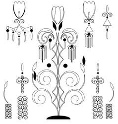 Vintage floral design element vector image