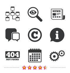 Website database icon copyrights and repair vector