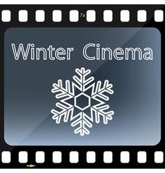 Winter Cinema vector image vector image