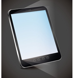 Tablet pc with empty screen vector