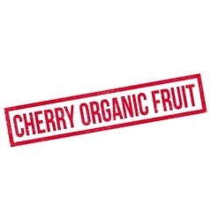 Cherry organic fruit rubber stamp vector
