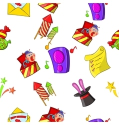 Holiday birthday pattern cartoon style vector