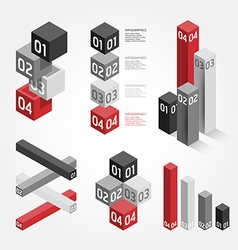 Modern graph Design can be used for infographics vector image