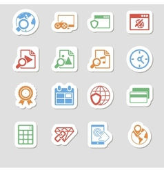 Seo Icons as Labes Vol 3 vector image