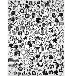 doodle web icon background vector image