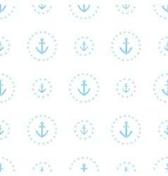 Marine watercolor seamless pattern of anchors vector