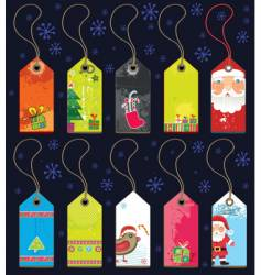 Christmas grunge tags vector image