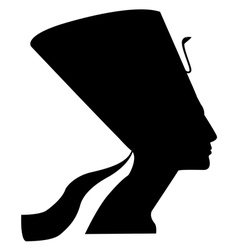 Silhouette of nefertiti vector