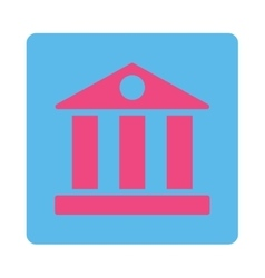 Bank flat pink and blue colors rounded button vector
