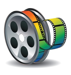 Movie reel icon2 vector