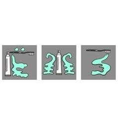 Decoartive Font Toothpaste Part 3 vector image
