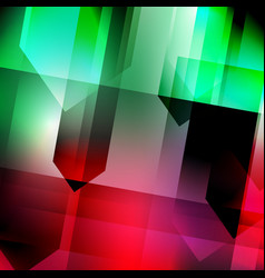 Abstract geometric gems and crystals glowing vector
