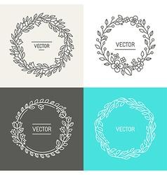 Abstract logo design templates vector