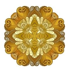 Beautiful Deco Colored Contour Square vector image