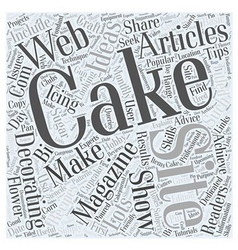cake decorating magazine Word Cloud Concept vector image vector image