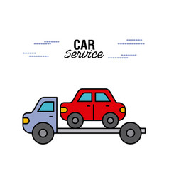 car service tow truck transport help rescue vector image