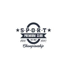 Classic Sport Club Label vector image