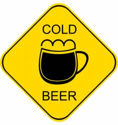 cold beer sign vector image vector image