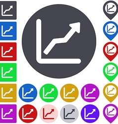 Color ascending icon set vector