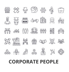 corporate people corporate identity business vector image