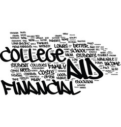 Financial aid myths text background word cloud vector