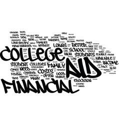 Financial aid myths text background word cloud vector