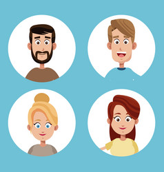 group mom and dad family vector image vector image